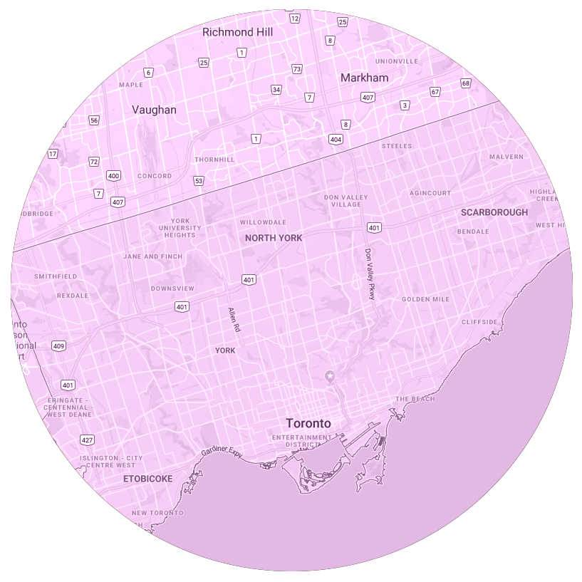 Toronto Map Purple